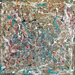 art panel interior design Andrea Patrizi Pollock Turquoise | Andrea Patrizi Floral Designer