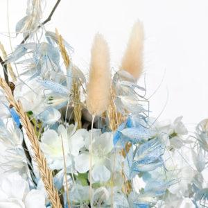 Rosa, avena e lagurus | Andrea Patrizi Flower Shop