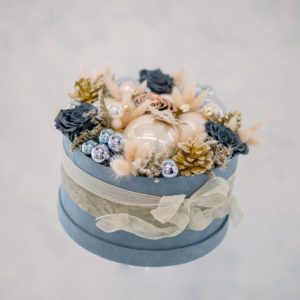 Cappelliera in velluto natale | Andrea Patrizi Flower Shop