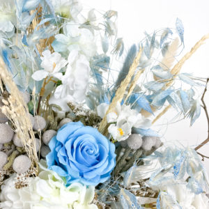 Rosa, avena e lagurus   Andrea Patrizi Flower Shop